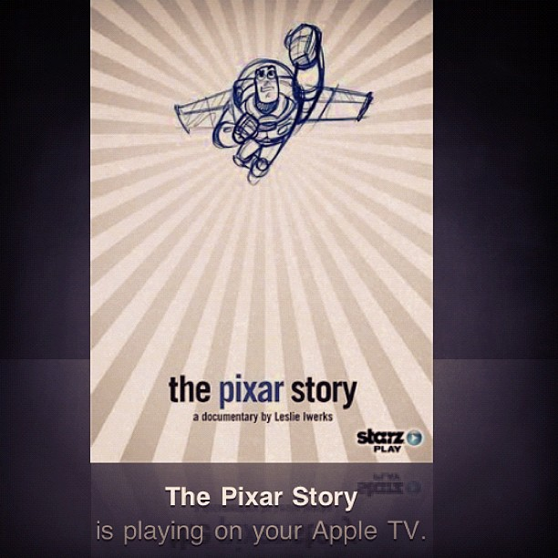 Finally showing 'The Pixar Story' to our artist daughter. She wants to be an animator... #Pixar #Disney #art