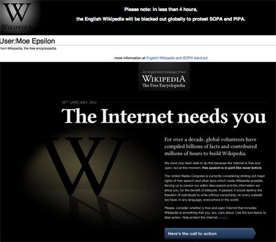 the internet needs you1 SOPA and What You Need To Know